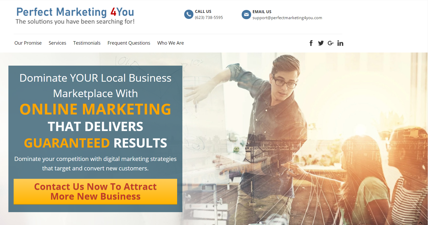 Perfect Marketing 4You home page image